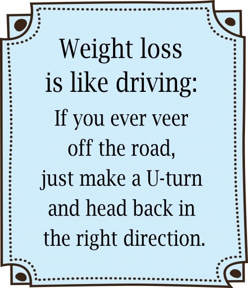 Fitness Motivation - Weight loss is like driving