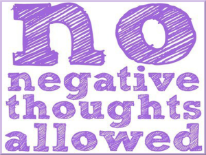 Fitness Motivation - No Negative Thoughts Allowed