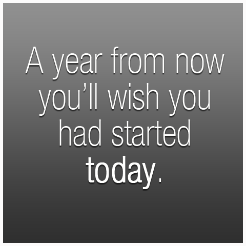 Fitness Motivation - A year from now you'll wish you had started working out today.