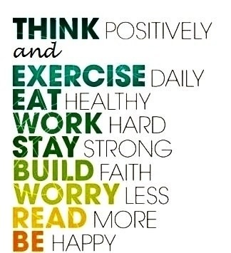 Fitness Motivation - Be Positive, Think Positive