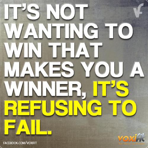 Fitness Motivation-I will not fail