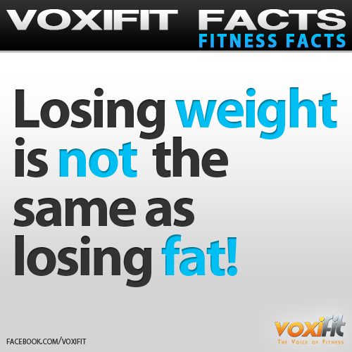 Fitness Facts and Motivation Weightloss vs Fatloss