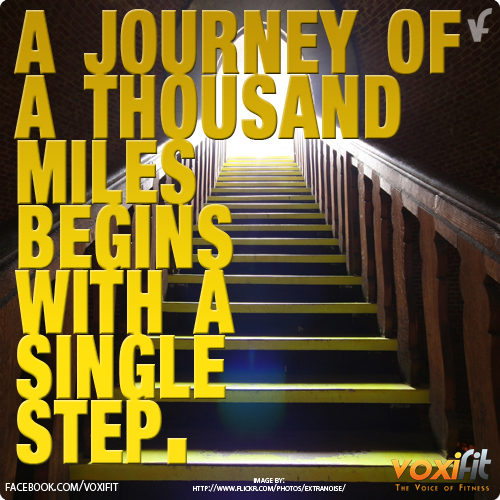 Fitness motivation every journey begins by taking the first step