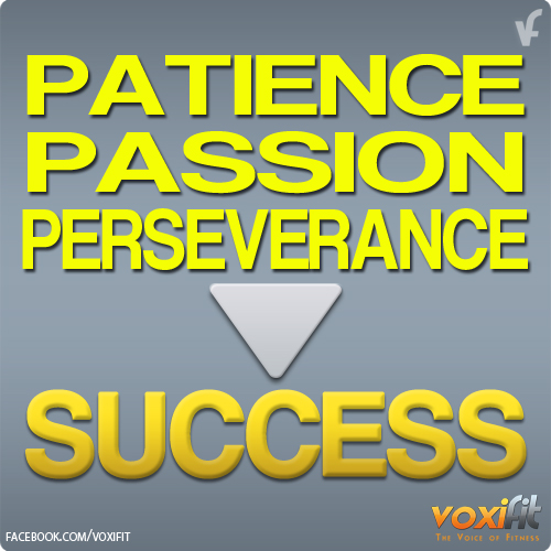 Perseverance in achieving success