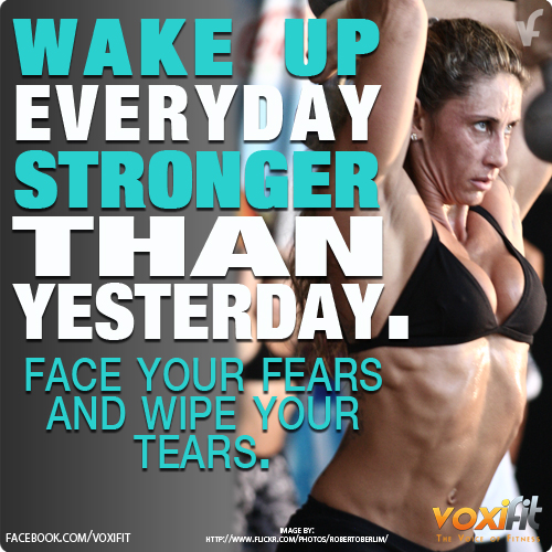 Fitness Motivation-Wake Up Stronger than yesterday