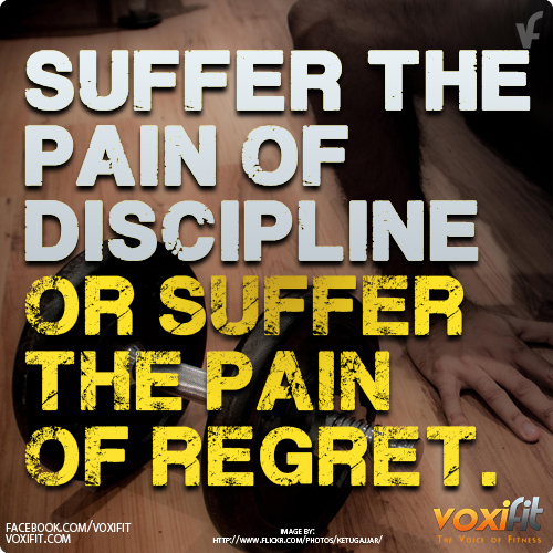 Fitness-Motivation-suffer-the-pain-of-discipline-or