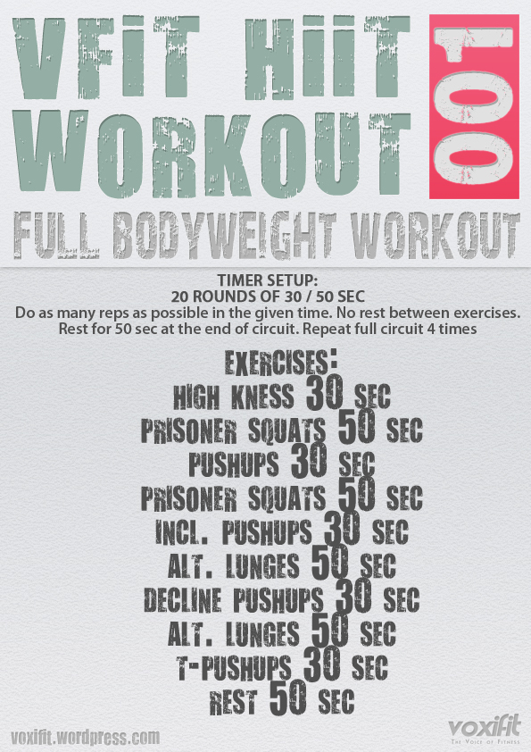 Voxifit Hiit Bodyweight Workout 001