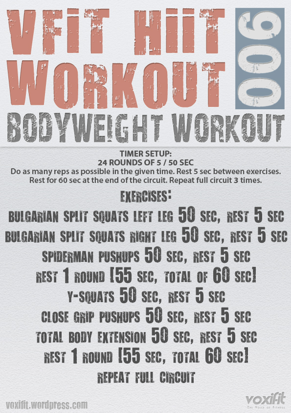 Body Weight Circuit Training For Weight Loss